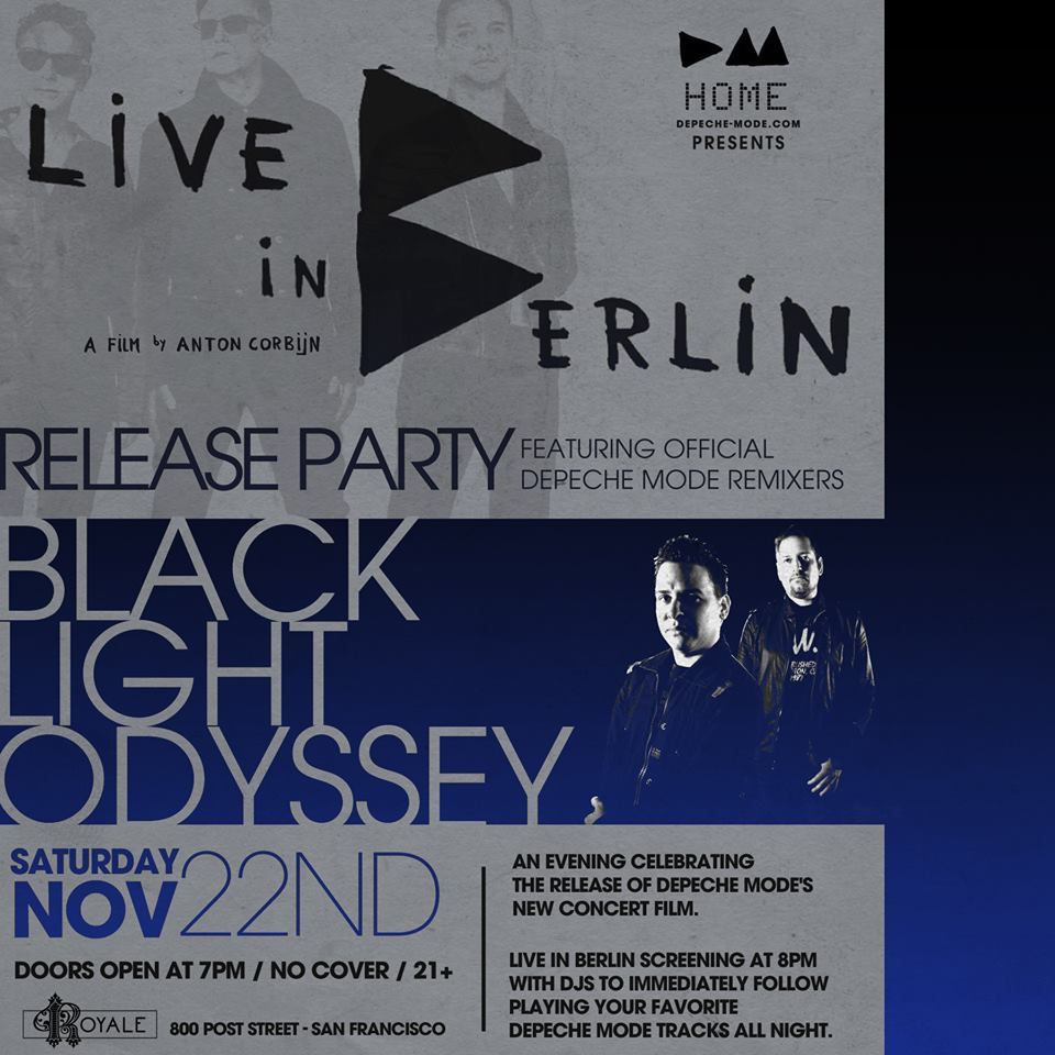 Live In Berlin: Black Light Odyssey flyer
